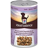 Hill's Ideal Balance Braised Lamb and Vegetables Recipe 12-Pack Dog Food Can, 12.8-Ounce