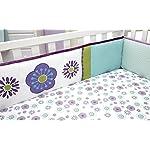 Carters-Zoo-JungleSafari-4-Piece-Crib-Bumper-FloralLavenderAquaWhite