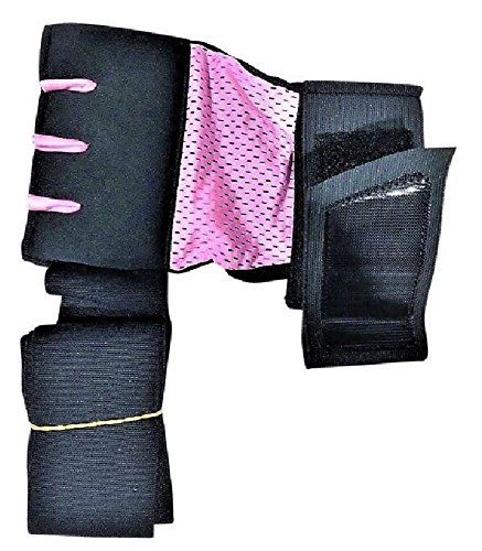 EZ-WRAPS (PRO VERSION Boxing Hand Wraps For Women LITE, COMFORTABLE, QUICK, EASY Hand and Wrist Inner Glove with Elastic Bandage plus FREE WASH BAG (10.00 Value) (SMALL) ()