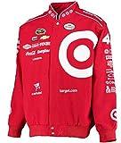 2015 Kyle Larson Target Mens Red Twill Nascar Jacket by JH Design (M)