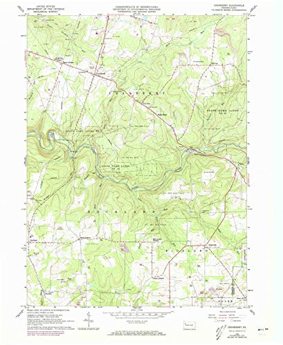 YellowMaps Cranberry PA topo map, 1:24000 Scale, 7.5 X 7.5 Minute, Historical, 1963, Updated 1973, 27 x 22 in - Paper