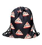 1pcs Swim Backpack Girls' 3d Printing Poop Drawstring Bag Swiming Backpack Review