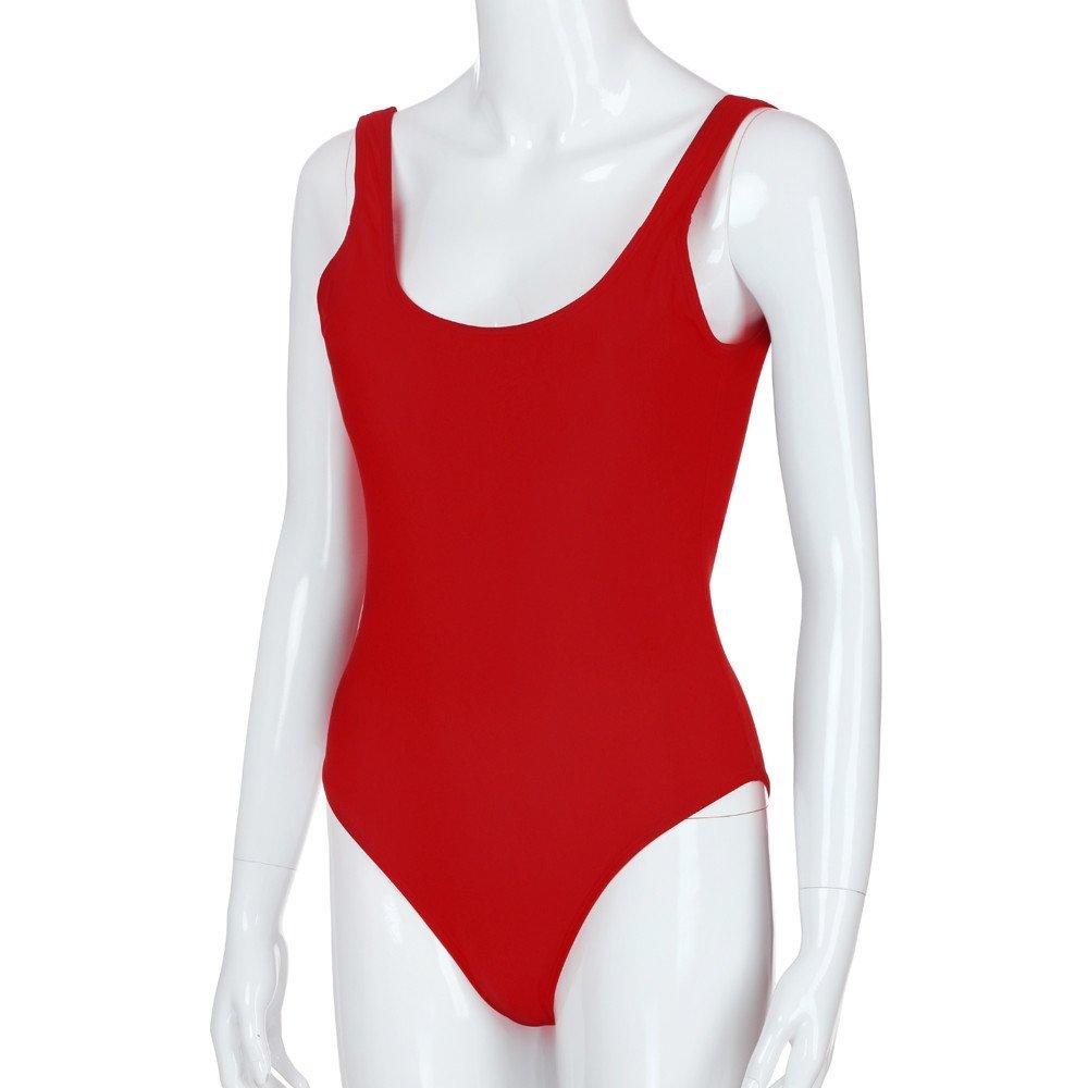 Costumi da Bagno Donna,Donne retr/ò Elastico Alto Taglio Basso Indietro One Piece Costumi da Bagno