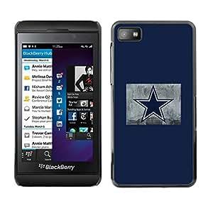 Caucho caso de Shell duro de la cubierta de accesorios de protección BY RAYDREAMMM - Blackberry Z10 - Estrella azul