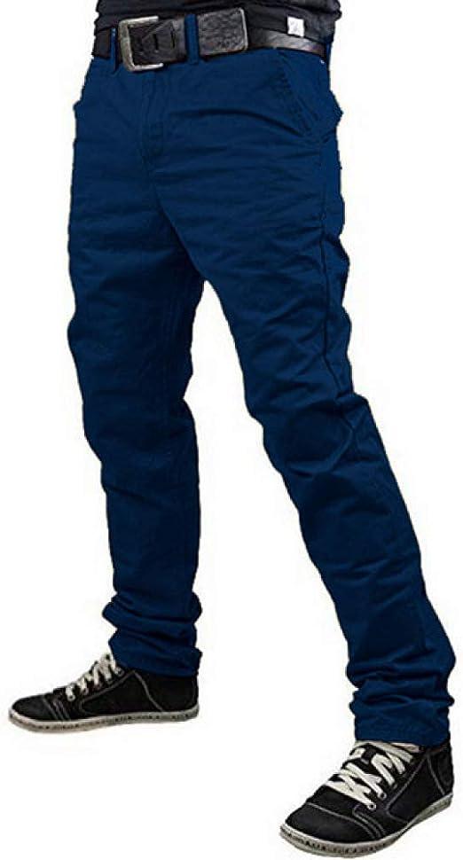 N/ A Pantalones de Carga Militar para Hombre de Color Liso ...