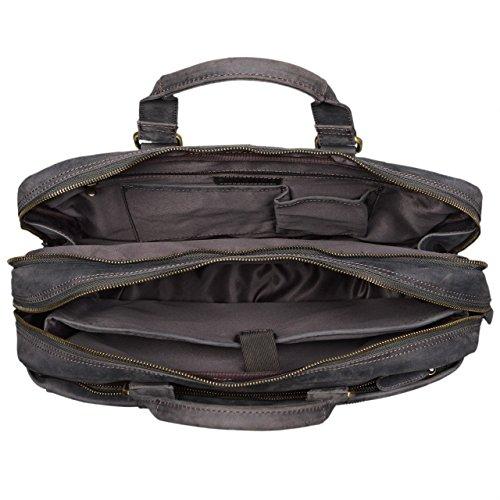 STILORD Nico Vintage Umhängetasche Leder Herren Damen 15,6 Zoll Laptoptasche groß Aktentasche Arbeit Büro Uni echtes Rindsleder, Farbe:kara - cognac dunkel - braun