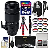 Fujifilm 100-400mm f/4.5-5.6 XF R LM OIS WR Zoom Lens with 3 UV/CPL/ND8 & 9 Colored Filters + 64GB Card + Backpack + Tripod + Kit