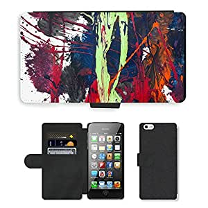 PU Cuir Flip Etui Portefeuille Coque Case Cover véritable Leather Housse Couvrir Couverture Fermeture Magnetique Silicone Support Carte Slots Protection Shell // M00293890 Arte terapia terapéutico disciplina // Apple iPhone 5 5S 5G SE
