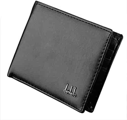 Jingjing1 Men's Synthetic Leather Wallet RFID Blocking Bifold Purse with Coin Clips
