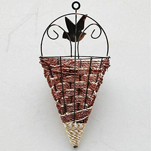 [해외]NATFUR Woven Wall Hanging Flower Planter Basket Garden Outdoor Indoor Holder Home Decor | Color - Coffee / NATFUR Woven Wall Hanging Flower Planter Basket Garden Outdoor Indoor Holder Home Decor | Color - Coffee