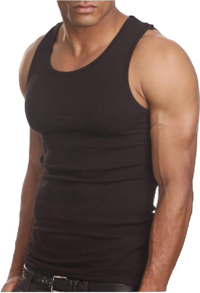 4cb15ba7 Amazon.com: ToBeInStyle Men's A-Shirt Tank Top Muscle Shirt - Small ...