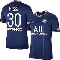 Camiseta Messi 30 Paris Saint-Germain Home Temporada 2021-2022 Camiseta de fútbol para Hombre, un Regalo para los…