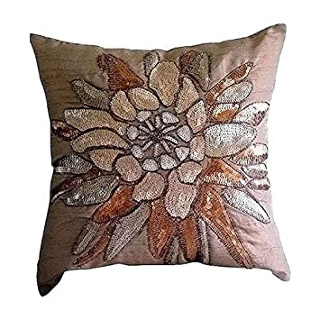 Amazon.com: Diseñador café fundas de almohada, lentejuelas ...