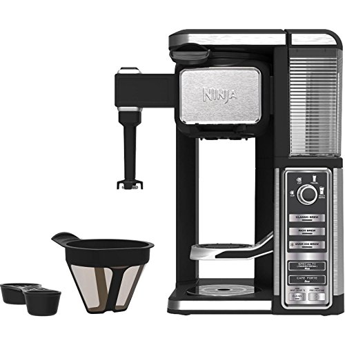 Ninja Single-Serve, Pod-Free Coffee Maker Bar with Hot and Iced Coffee, Auto-iQ (CF111)