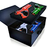 Legacy Toys Laser Tag Set and Carrying Case for Kids Multiplayer 4 Pack