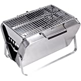 Sougem Portable Foldable Charcoal Grill Stainless Steel Materials Outdoor Barbecue,Handle,Small Size