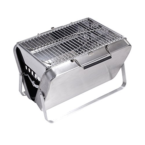 Sougem Charcoal Grill Portable Stainless Steel Folding Barbe