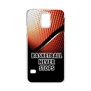 HOT SALE, Basketball never stop Pattern white plastic case For Samsung Galaxy S5 at Run horse store