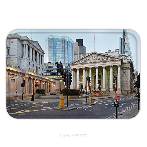 Flannel Microfiber Non-slip Rubber Backing Soft Absorbent Doormat Mat Rug Carpet London Royal Exchange, Shopping Centre And Bank Of England_100010908 for - Center Shopping Orlean