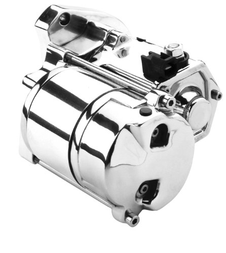 (Spyke Polished Starter Motor for Harley Davidson 1994-2006 Big Twin (exc. 2006 Dyna))