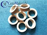 Alumina Ceramic Washer 3/4''OD x 1/2'' ID x 1/4'' OAL(10 Pack)