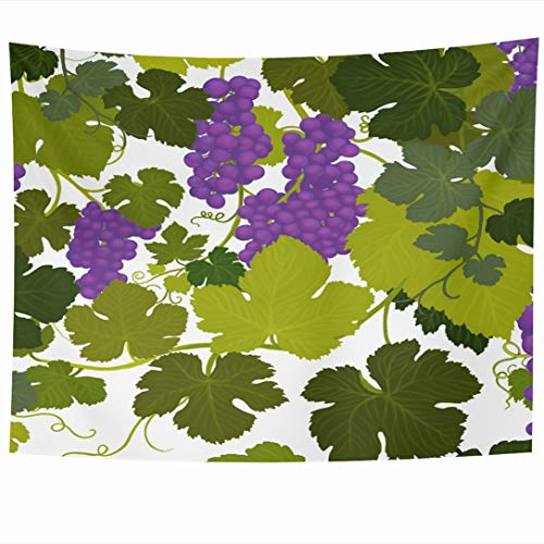 - Ahawoso Tapestry 90x60 Inch Valley Green Arbor Grape Vines Wine Country Airbrush Painting Alcohol Purple Bottle Cabernet Tapestries Wall Hanging Home Decor for Living Room Bedroom Dorm