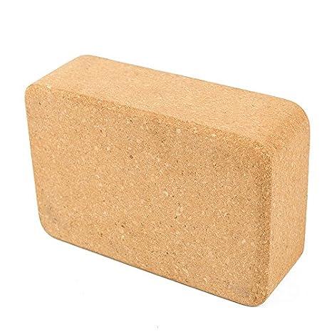 Amazon.com : SYHAI Yoga Block High Density Cork Wood Yoga ...