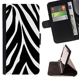 For Samsung Galaxy S6 EDGE - Abstract Zebra Pattern /Funda de piel cubierta de la carpeta Foilo con cierre magn???¡¯????tico/ - Super Marley Shop -