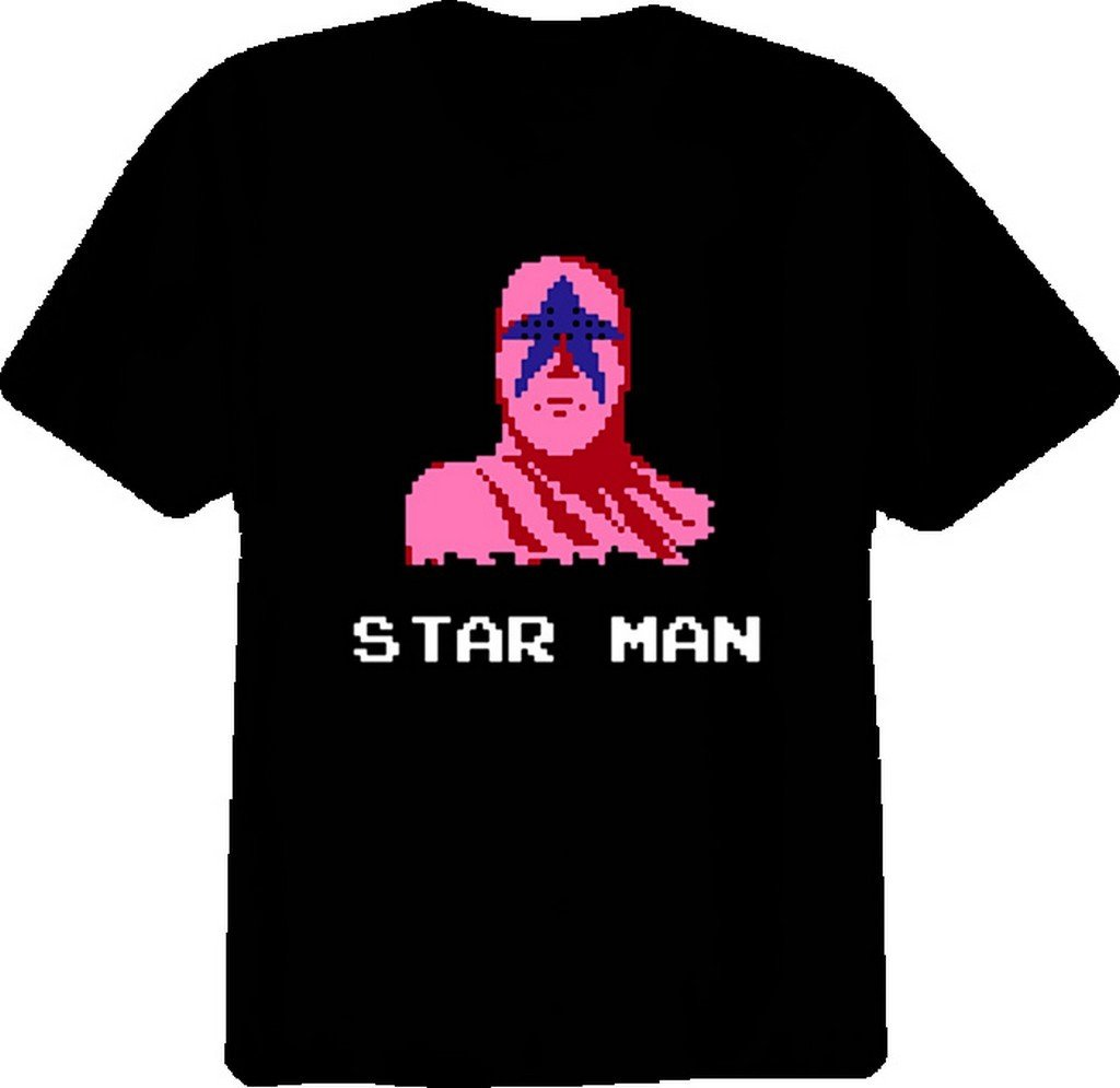 Pro Wrestling Star Man NES T Shirt 2XL Black