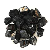 "1"" Rough Bulk Madagascar Materials: 1 LB of Black Tourmaline, From JIC Gem"