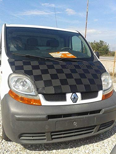 Renault Trafic Nissan Primastar Chequered AVITON Bonnet Bra VAUXHALL//Opel Vivaro