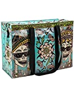Blue Q Shoulder Tote, Day of the dead