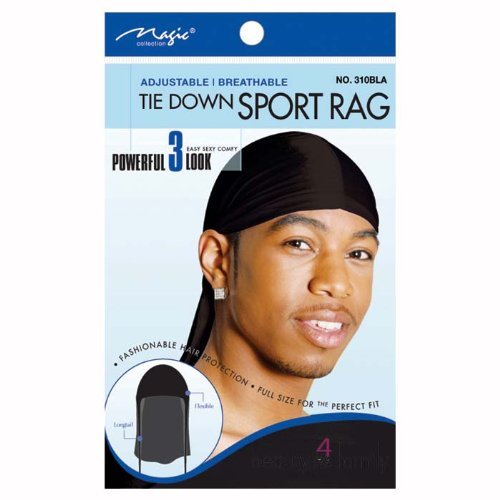 Magic Tie Down Nylon Sport Durag Black Hair Cap Buy