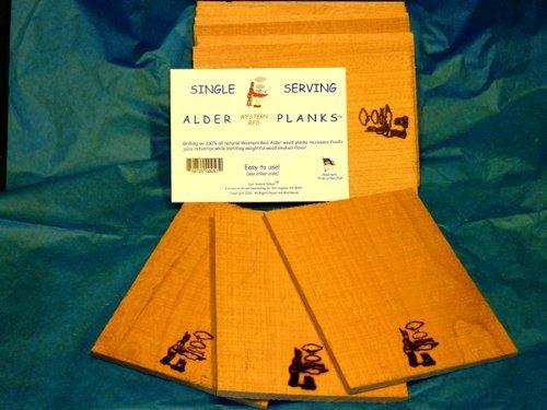 Just Smoked Salmon Single Serving Cedar Planks (30 Pack)