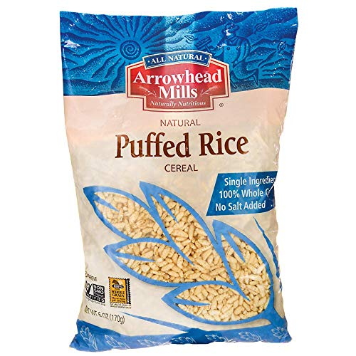 - Arrowhead Mills Puffed Rice Cereal, 6 oz