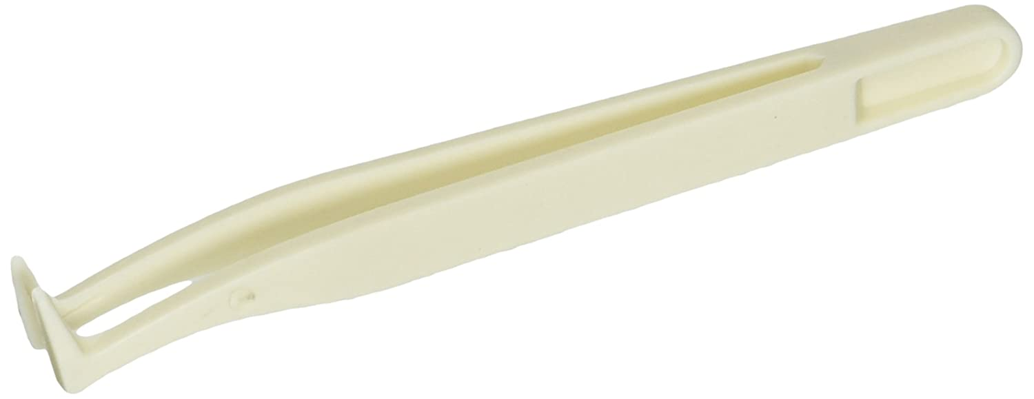 2 pointe courbée anti-statique en plastique anti statique pince à épiler 12 cm long Sourcingmap a14082500ux0047