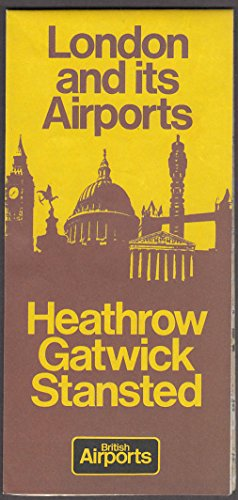 London & Its Airports Map folder Heathrow Gatwick Stansted 1978