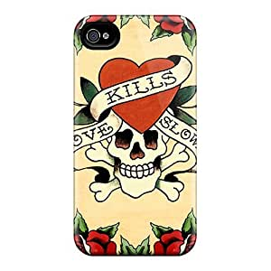 Flexible Tpu Back Case Cover For Iphone 4/4s - Ed Hardy
