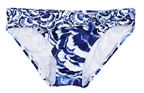 Tommy Bahama Pansy Twist Front Hipster Bikini Bottom (White, X-Small)