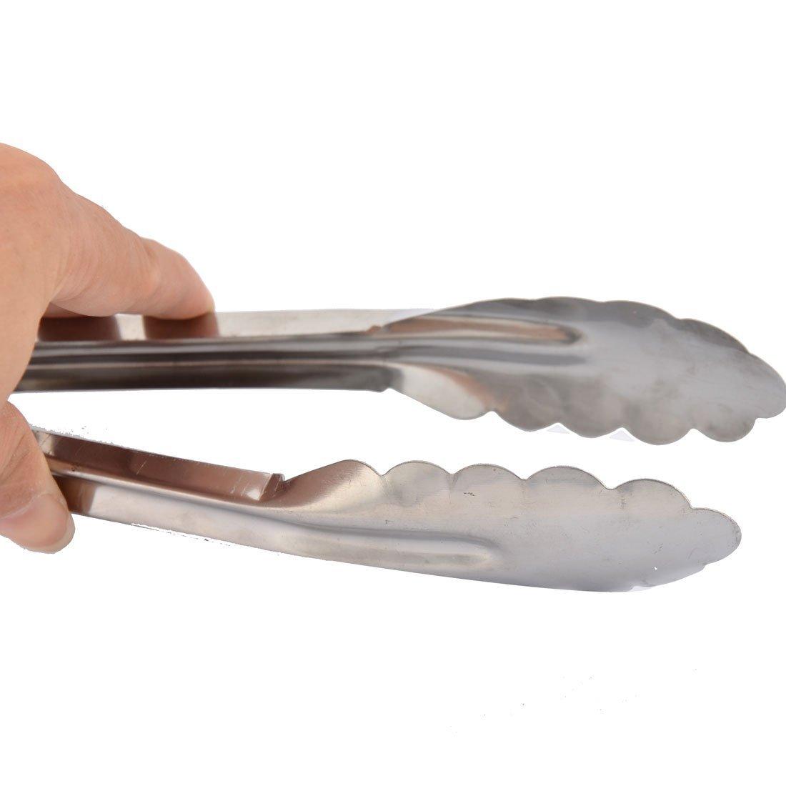 Amazon.com | eDealMax hogar restaurante de cocina vegetal buffet barbacoa carne Pan Alimentos Pinza Pinzas Porción Clip 23cm: Serving Utensils