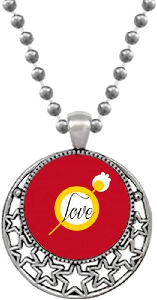 OFFbb-USA Lovers Love Only One Art Deco Gift Fashion Necklaces Pendant Retro Moon Stars Jewelry