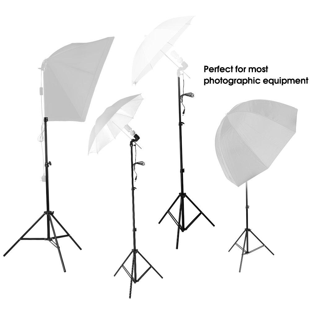 Parapluie Lumi/ère ou Lumi/ère Anneau CRAPHY Support Fixation Lumi/ère Photo Studio Tr/épied 79//200CM Light Stand avec 1//4 Vis Interface pour Softbox