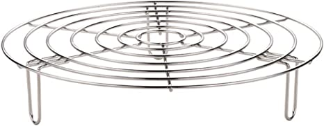 Cabilock 1pc Steam Rack Household Stainless Steel Multi-Function Steaming Rack Steamer Basket for Kitchen Crock Pots Cooking Chef