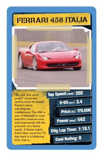 Top Gear Cool Cars Top Trumps Card Game Amazoncouk Toys Games - Sports cars top trumps