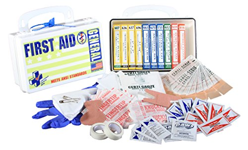 Certified Safety K202 012 10Pw Ansi General Purpose First Aid Kit In Poly White