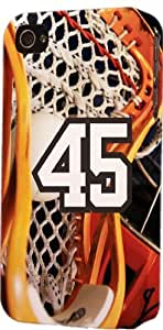 Basketball Sports Fan Player Number 45 Plastic Snap On Decorative iPhone 4/4s Case