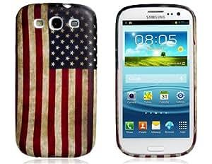 EE.UU. Flag Print caso de goma de TPU para Samsung Galaxy S3 / I9300