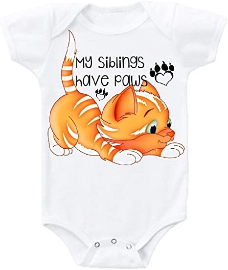 Newborn Kids Cat Dog Paw Printed Long Sleeve 100/% Cotton Infants Tee Shirt