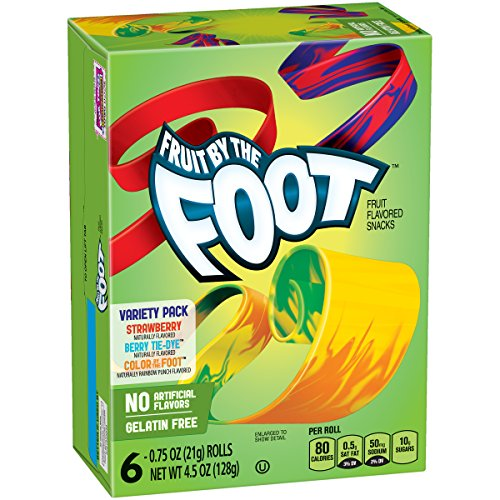 Betty Crocker Fruit By The Foot Variety Pack of Strawberry and Berry Tie-Dye, 4.5 (Feet Treats Foot)