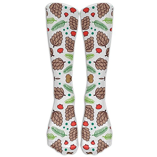 Pinecone Tube (Pinecones Tube Thigh High Sock Socks For Women & Men - Graduated Athletic Fit For Running, Nurses, Flight Travel, Skiing & Maternity Pregnancy - Boost Stamina & Recovery)